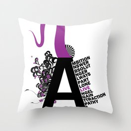 A is the Letter Throw Pillow