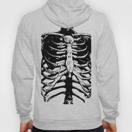 Skeleton Ribs | Black and White Hoody
