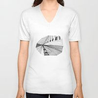 pie V-neck T-shirts featuring Pie Chart by Virginia Kraljevic