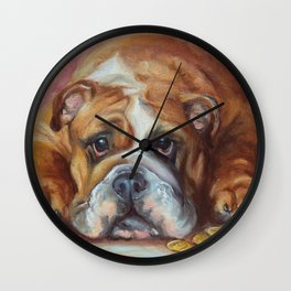 IF I WERE A RICH MAN... OR BULLDOG Wall Clock