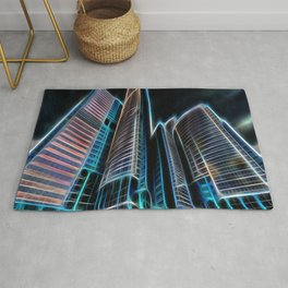 illustrations skyscraper light Rug