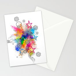 Color blobs by Nico Bielow Stationery Cards