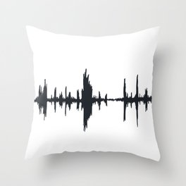 Music Wave (or New Orleans Swamp) Throw Pillow