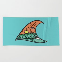 Wave in a Wave - Teal Beach Towel