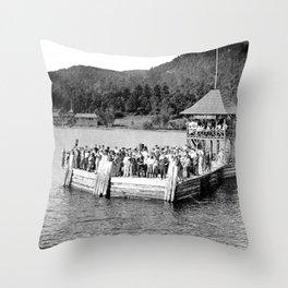 Waiting at Silver Bay (1906) Throw Pillow