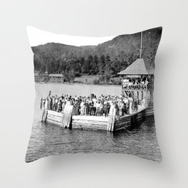 Waiting at Silver Bay (1906) Throw Pillow