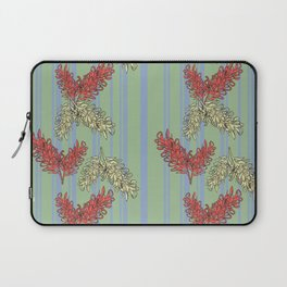 Striped Australian Floral Print Laptop Sleeve