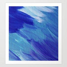 Deepest blues Art Print