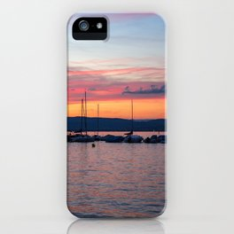 Sunset Lake Annecy iPhone Case