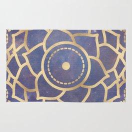 Mandala Chakra Copper and Purple Crown Chakra Rug