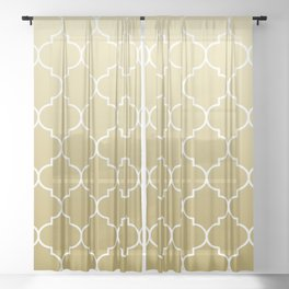 golden pattern Sheer Curtain