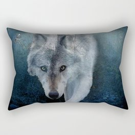 The Gathering - Wolf and Eagle Rectangular Pillow