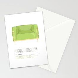 Le Corbusier Lounge Chair in Pantone Greenery Stationery Cards