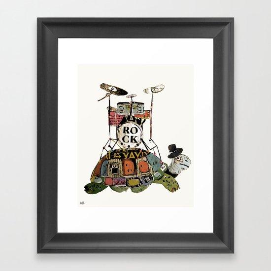 rock turtle Framed Art Print