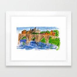 Georgetown University | Key Bridge Framed Art Print
