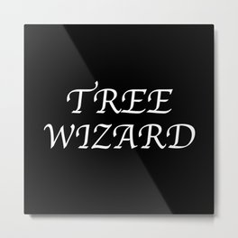 Tree Wizard Metal Print