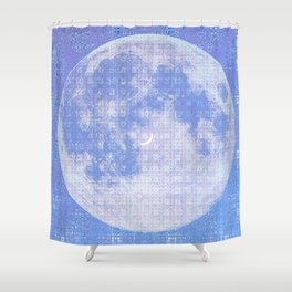 Magick Square Moon Invocation Shower Curtain