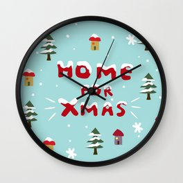 Home for Xmas Wall Clock