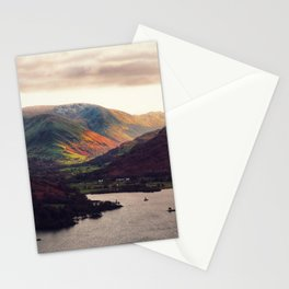 Golden hour in the lake district Stationery Cards