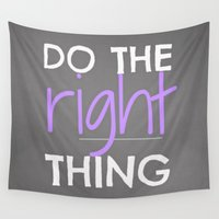 okay Wall Tapestries featuring Just Do It, Okay? by Bunhugger Design