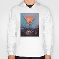 martini Hoodies featuring Pink Lemonade Martini by Michael Creese