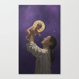 For Unto Us a Child is Born Canvas Print