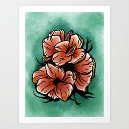 Poppy Fields Forever Art Print