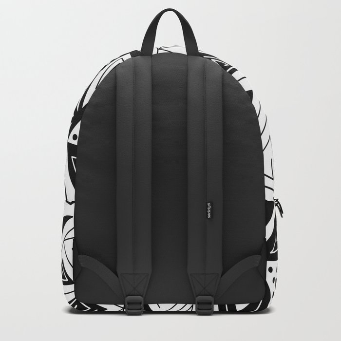 Black and white abstract pattern. Backpack