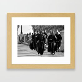 A holy afternoon stroll on the Lungomare of Reggio Calabria, Italy Framed Art Print
