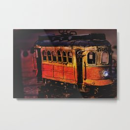 Trolley Toy Metal Print