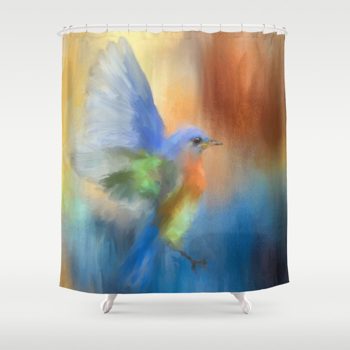Flight Of Fancy Shower Curtain By Jaijohnson