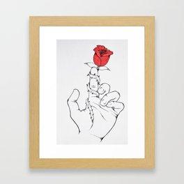 A Rose Framed Art Print