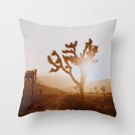 Joshua Tree X / California Desert Throw Pillow