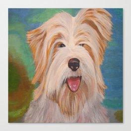 Terrier Portrait Canvas Print