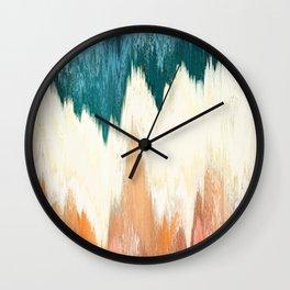 Pixel Sorting 55 Wall Clock