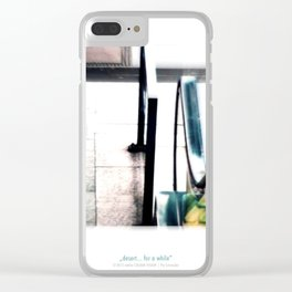 desert... for a while Clear iPhone Case
