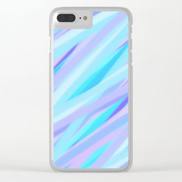 Pastel Pink, Purple, and Light Blue Stripes Clear iPhone Case