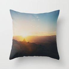 sunrise on Mt Woodson ... Throw Pillow