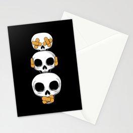 Cute Skulls No Evil II Stationery Cards