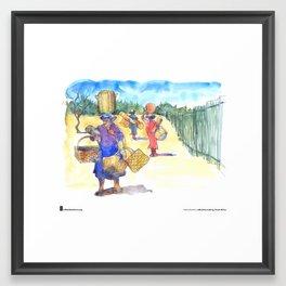 "Cathy Gatland, ""Basket Sellers"" Framed Art Print"