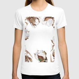Cotton Flower Frame 01 T-shirt