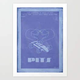 Retrogaming - Pitstop Art Print