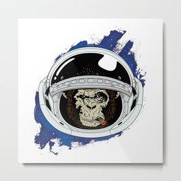 Space Chimp Metal Print