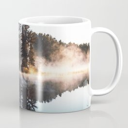 Misty Lake Pine Island Coffee Mug