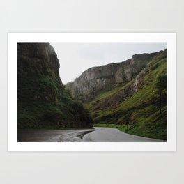 Cheddar Gorge Art Print