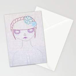 Dia de los Muertos Embroidery Stationery Cards