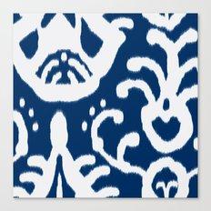 Navy Ikat Canvas Print
