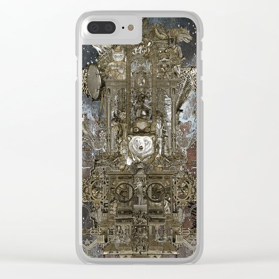 Steampunk Space Transport Clear iPhone Case