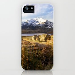 Glyder Fawr and Llyn Ogwen iPhone Case