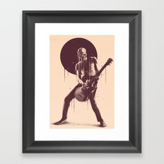 Face Melting Framed Art Print